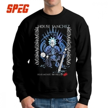 Rick And Morty Game Of Thrones Sweatshirts House Sanchez Men Pullover Pure Cotton Hipster Crewneck Clothing New Hoodie
