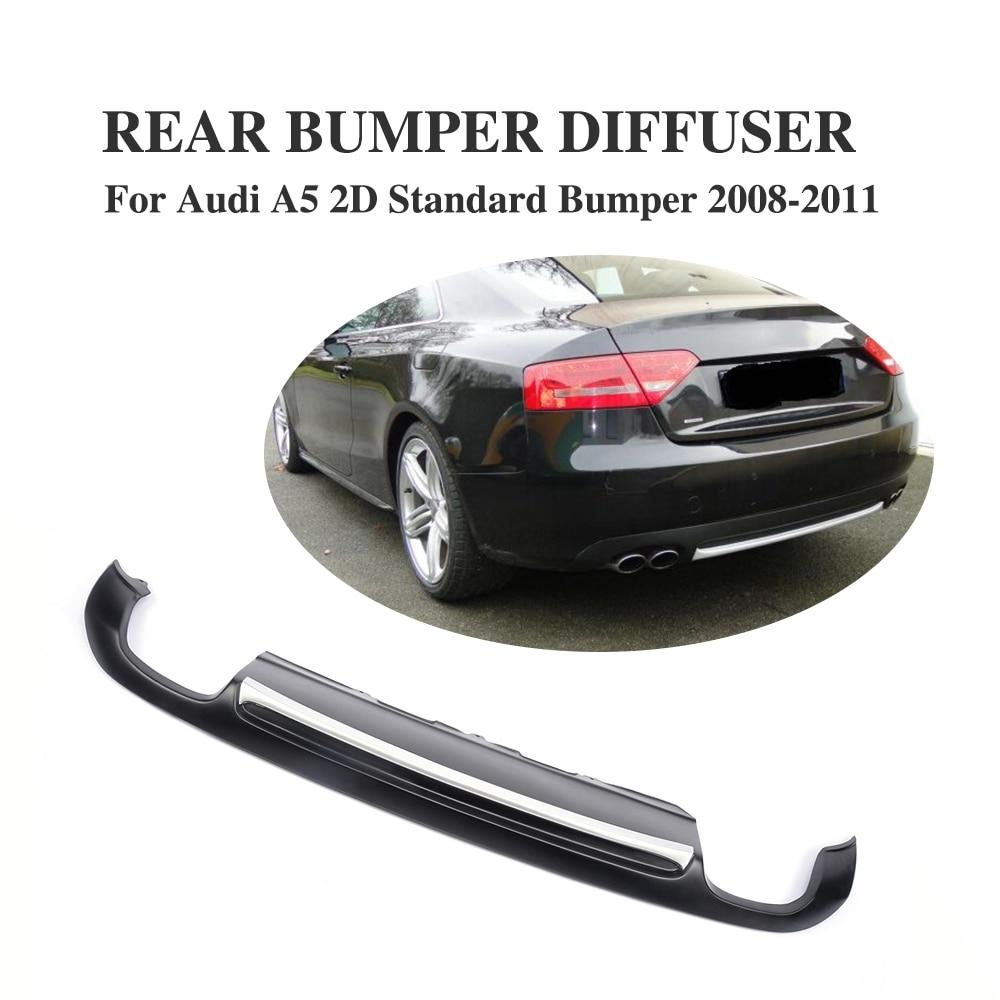 Matowy czarny dyfuzor na tylny zderzak Pasuje do Audi A5 Coupe - Części samochodowe - Zdjęcie 1