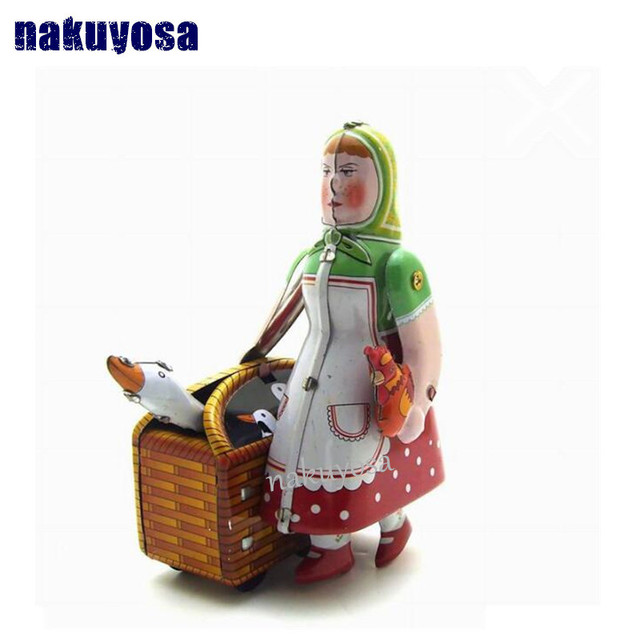 Russian Peasant Woman Nostalgic Toys Creative Gifts Personalized Props Bar  Clothing Store Furnishings Clockwork Toys