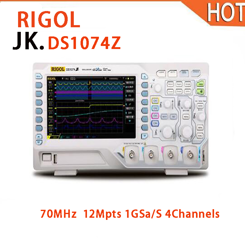 2018 hot RIGOL DS1074Z 70MHz Digital Oscilloscope 4 analog channels 70MHz bandwidth hantek idso1070a 2ch 70mhz bandwidth digital oscilloscope support iphone ipad android windows oscilloscope wifi communication