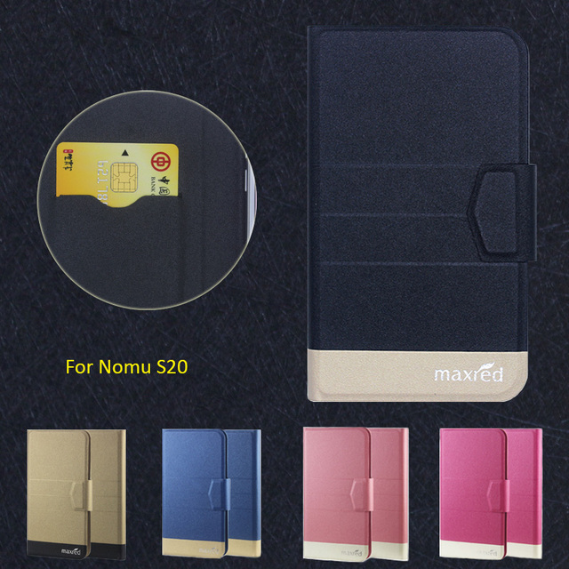 New Top Hot! Nomu S20 Case,5 Colors High quality Full Flip Fashion Customize Leather Luxurious Phone Accessories