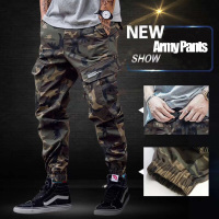 2018 Fashion High Street Men's Jeans Casual Cargo Pants Camouflage Army Pants Brand Design Hip Hop Ankle Zipper Jogger Pants Men
