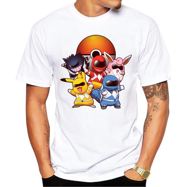Pokemon Go Men T-shirt Fashion Go Poke Rangers t shirts Pokemon Printed Tops Short Sleeve Hipster tee