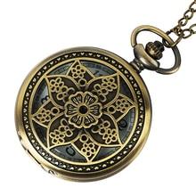 Watch Ladies Vintage Pocket Watch Chain Quartz-watch Vintage Retro Bronze Quartz Pocket Watch Pendant Chain Necklace цена