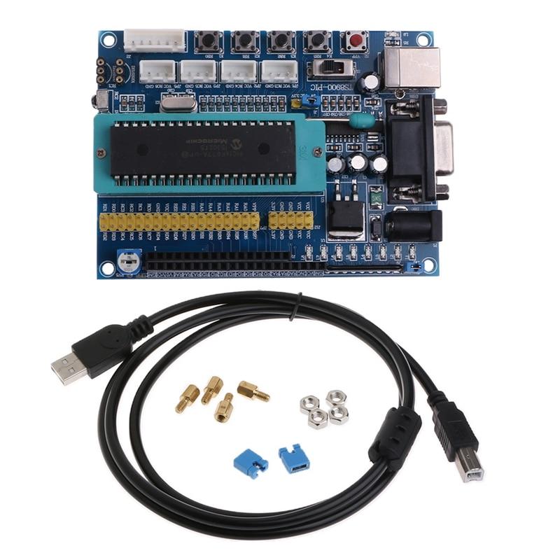 New 2017 For PIC16F877A PIC Minimum System Development Board JTAG ICSP Program Emulator Hot Sale pic development board pic16f877a pic16f877a i p 8 bit risc pic microcontroller development board 11 accessory modules