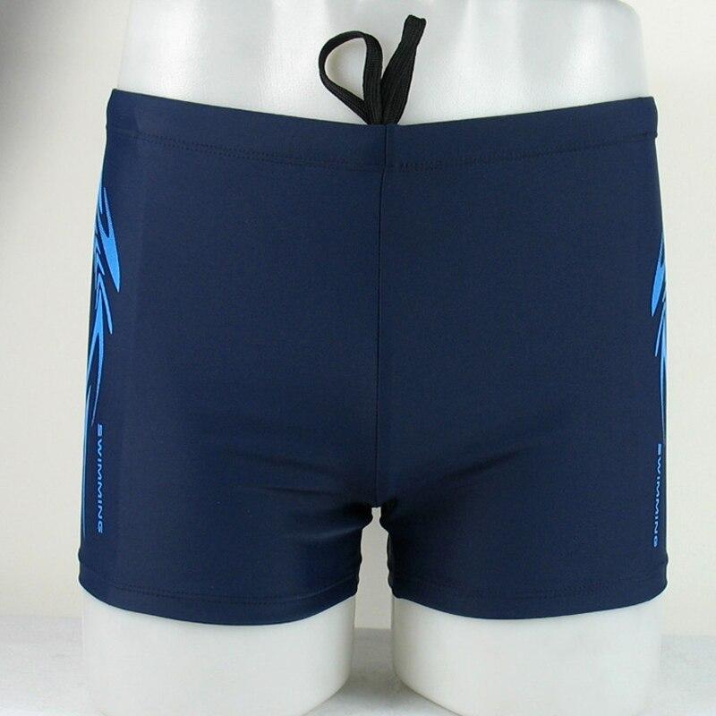Men Swim Trunks Summer Beach Swimwear Bathing Suit Swimsuit Shorts Printed Briefs Cotton Spandex Swimming Wear Beach Short Pants(China)