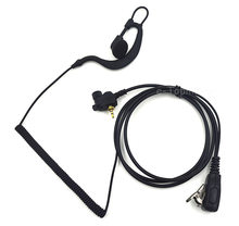 1 Pin Covert Curl Wire Headset Earpiece Mic PTT for Motorola MTP850 Two Way Portable Radio MTH600 MTH650 MTH800 MTH850 MTS850(China)