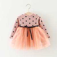 Kid Girls Princess Brand Baby Dress Newborn Infant Baby Girl Clothes Bow Dot Tutu Ball Gown