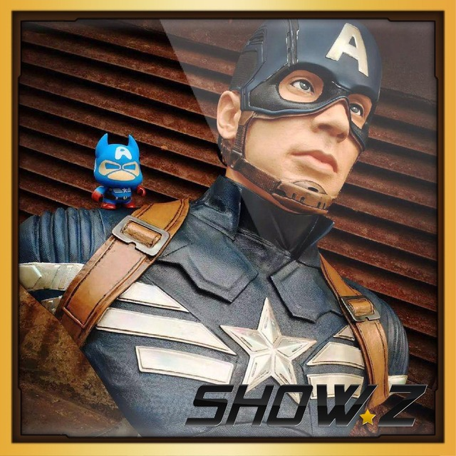 [Custom Made] Captain America Coloer Painted 1:1 Scale Statue BUST