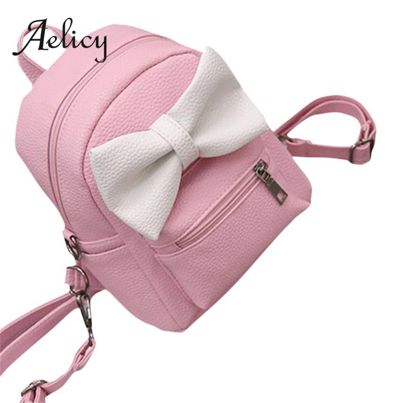 Aelicy Ladies Bow-knot Mini Small Backpack Students PU leather School Bag Women Daily Casual Outdoor Satchel Hiking Shoulder BagAelicy Ladies Bow-knot Mini Small Backpack Students PU leather School Bag Women Daily Casual Outdoor Satchel Hiking Shoulder Bag