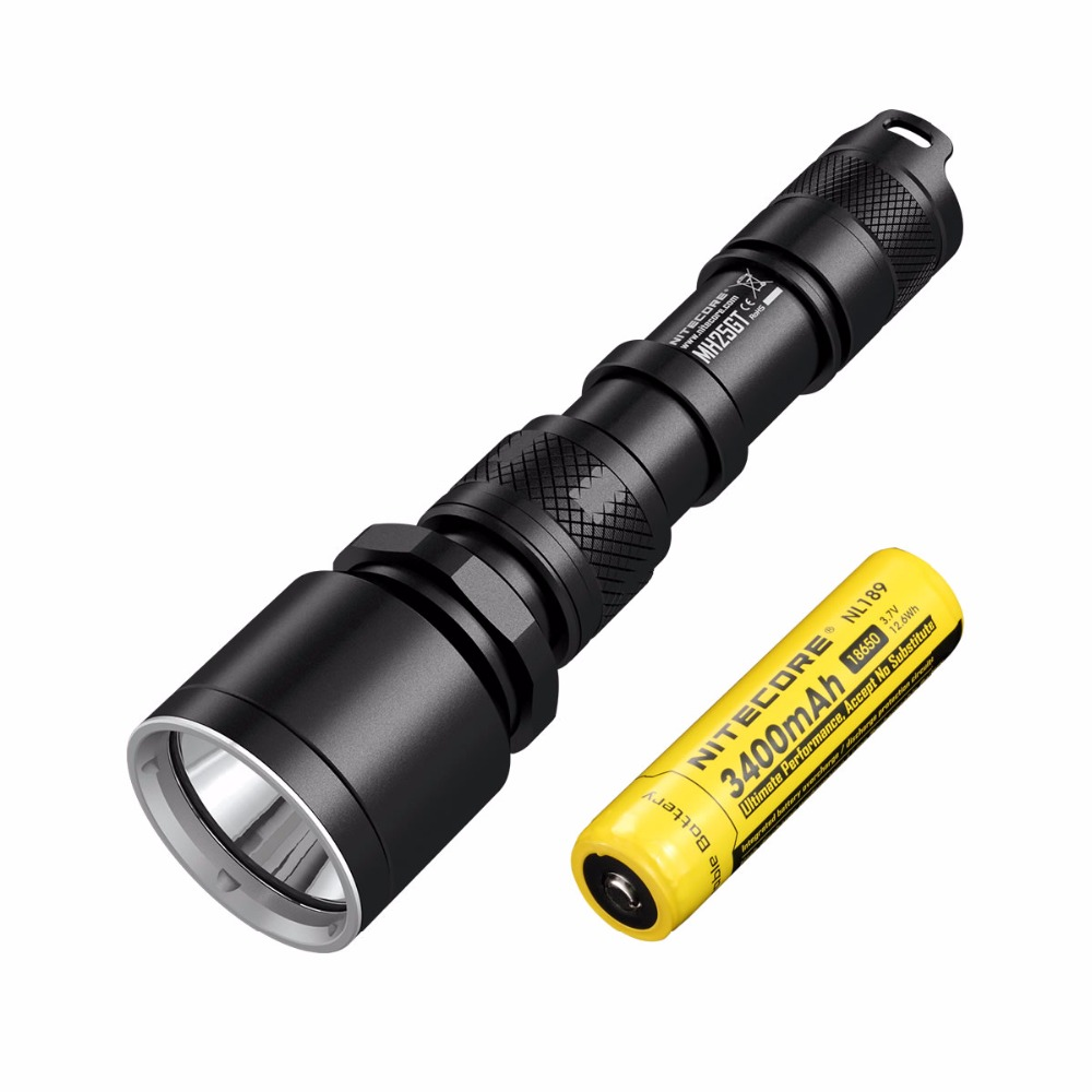 2017 NITECORE MH25GT 1000Lm Tactical CREE XP-L HI V3 LED Waterproof Flashlight Outdoor Torch+ 3400mah Battery+ Holster+USB Cable 3800 lumens cree xm l t6 5 modes led tactical flashlight torch waterproof lamp torch hunting flash light lantern for camping z93