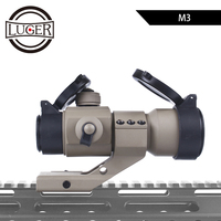 LUGER M3 Optical Sight Riflescope Red Green Dot Hunting Scope Holographic Red Dot Sight With 20mm 11mm Rail Mount For Air Gun