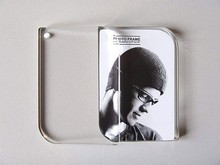 6inch Clear Blank Acrylic Tabletop Photo Frame Freestanding Picture Block Christmas Gift
