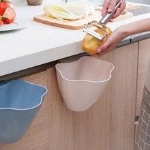1 шт., кухонная подвесная мусорная корзина, розовый, синий, серый цвет, пластиковая дверь кухонного шкафа, подвесная мусорная корзина, мусорный контейнер для домашнего хранения