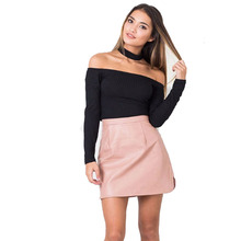 JSMY Office Lady Women Straight Leather Skirt Sexy Fashion High Waist Pencil Bodycon