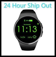 KingWear KW18 Apoyo TF Tarjeta SIM Bluetooth Reloj Inteligente de Pantalla Completa Teléfono Smartwatch de Ritmo Cardíaco para el equipo de manzana s2 huawei PK x10