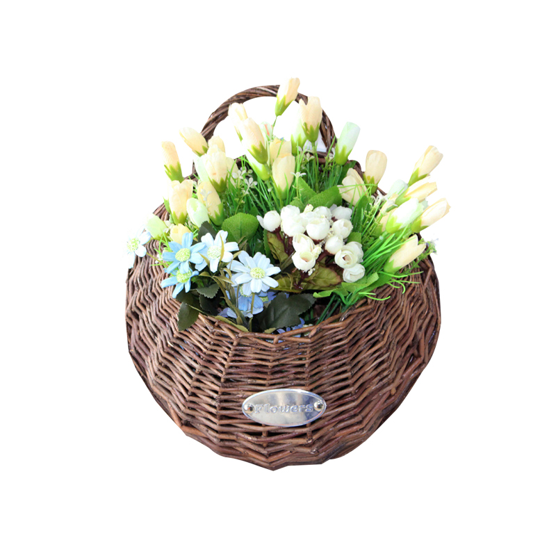 Greatest Wicker Wall Hanging Baskets. Perfect Pas Cher Double Face  VJ38
