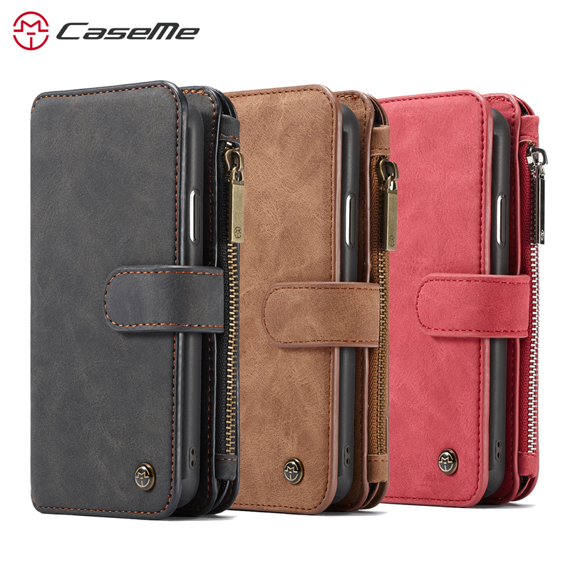 Image 5 - For iPhone XR XS Max wallet case Caseme Leather Wallet bag чехол 