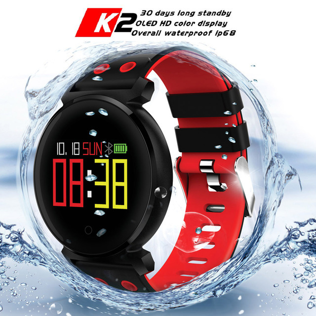 CACGO K2 Bluetooth Smartwatch Waterproof IP68 Heart Rate Blood Pressure Blood Oxygen Smart Watch for iOS Android Phone Pk Xiaomi