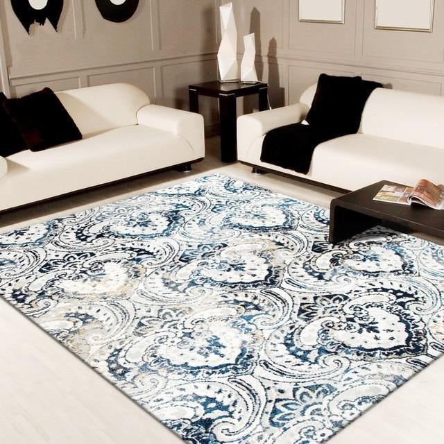 160x230 cm porcelana azul y blanca alfombras sala nórdico simple
