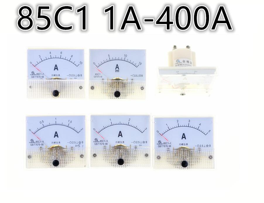 85C1-A DC указатель Амперметр 1A 2A 3A 5A 10A 20A 30A 50A 75A 100A 150A 200A 300A 400A 85C1 серия аналоговая Амперметр 64*56 мм Размер