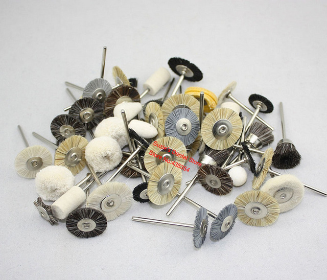 50pcs Dental Lab Assorted Brushes Polishing Wheels 2.35mm for Rotary Tools