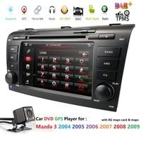 Автомобильный dvd плеер с ОС WinCE 6,0 Fit Mazda 3 gps Навигации 2Din руль 800*480 SD радио Bluetooth ТВ DAB + коробка DVB T заднего вида CAM