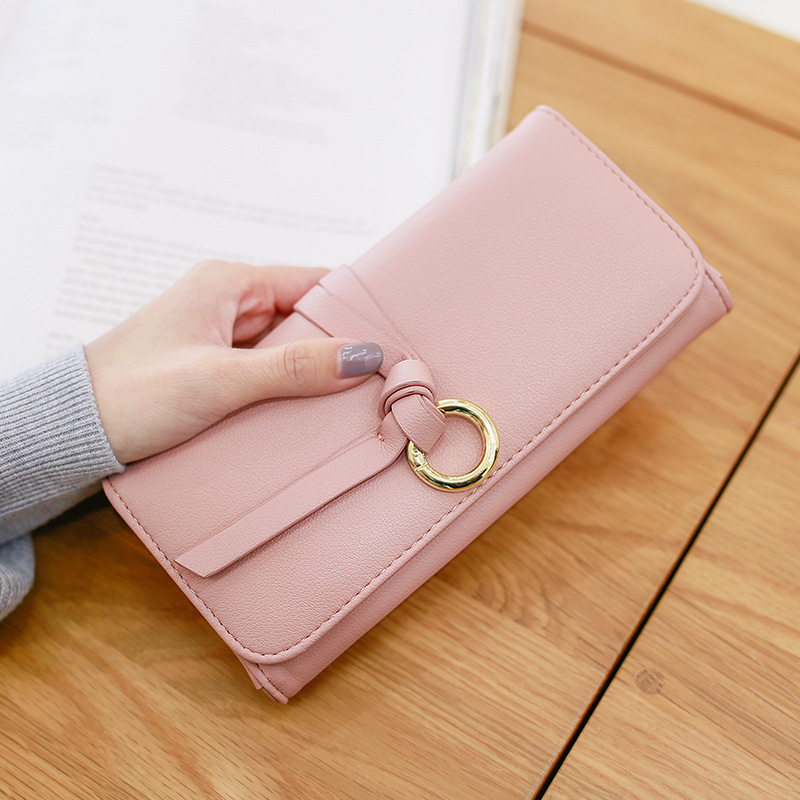 wallets womens long new Japanese and Korean version of student multi-function minimalist large capacity wallet
