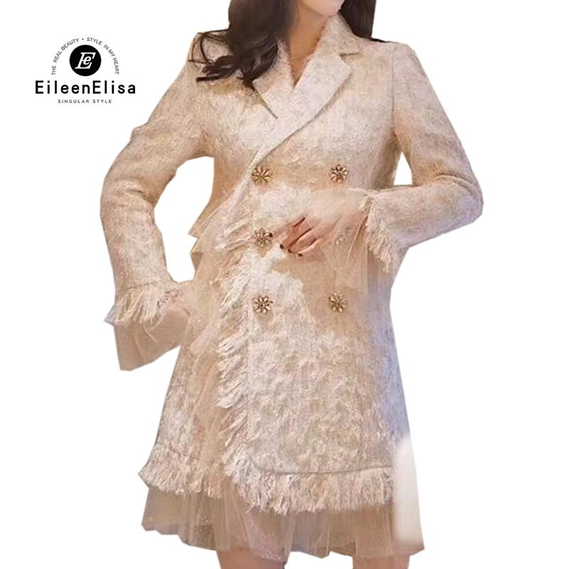 Femelle Survêtement Automne Femmes Veste Mode Luxe Haute Hiver 2019 Pour Quailty De Tweed Manteau Les Yz60qfUU