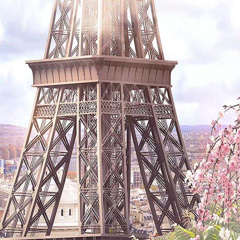 US $8.74 46% OFFKustom Ukuran Foto Wallpaper 3D Window Paris Menara Eiffel  Pemandangan Kota Lukisan Dinding Wallpaper untuk Ruang Tamu Latar Belakang