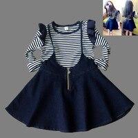 Filles vêtements ensembles Enfants vêtements Ropa mujer 2016 D'été Enfants robe ensembles Toddler Vêtements set Coton costume Roupas infantis menina