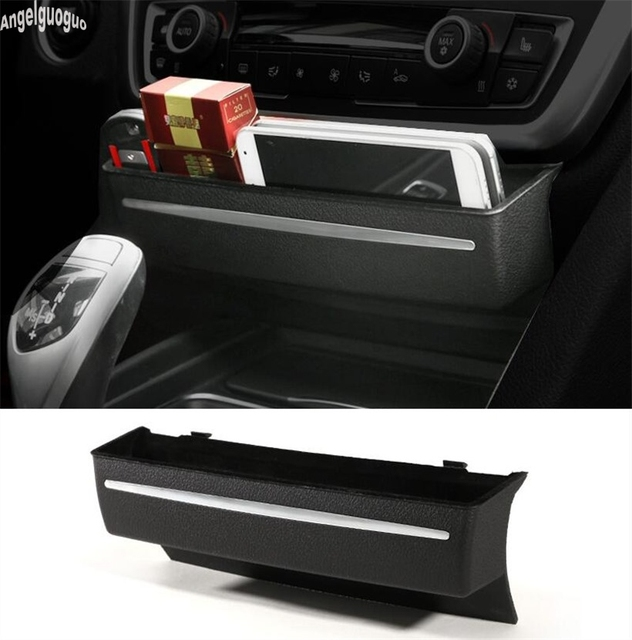 0a055447f96 angelguoguo Car upgrade Storage Box Console CD Panel Replacement armrest  for BMW 3GT 3 4 series F30 F34 car-styling accessories