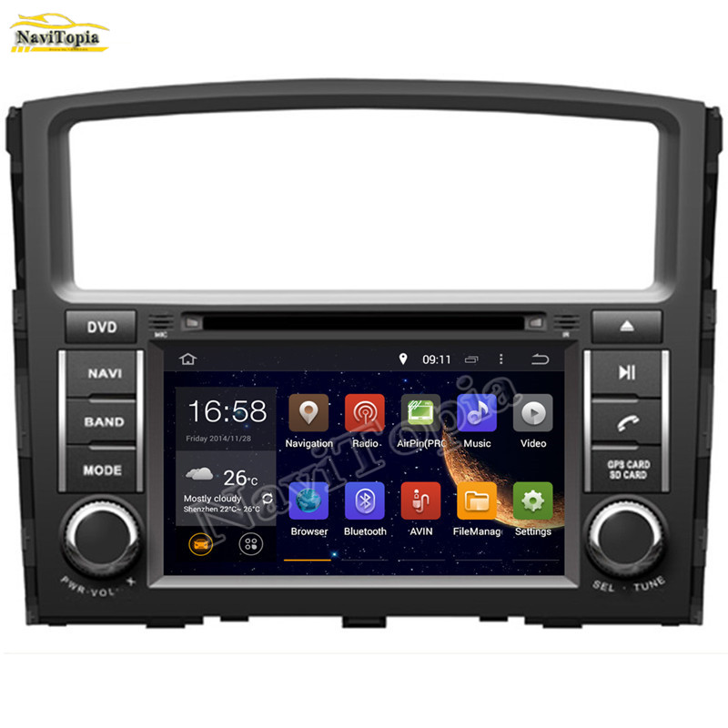 NAVITOPIA QuadOcta Core 4GB2GB1GB RAM 16GB32GB Android 8.07.1 Car DVD GPS Multimedia Player for MITSUBISHI PAJERO V97 2006-