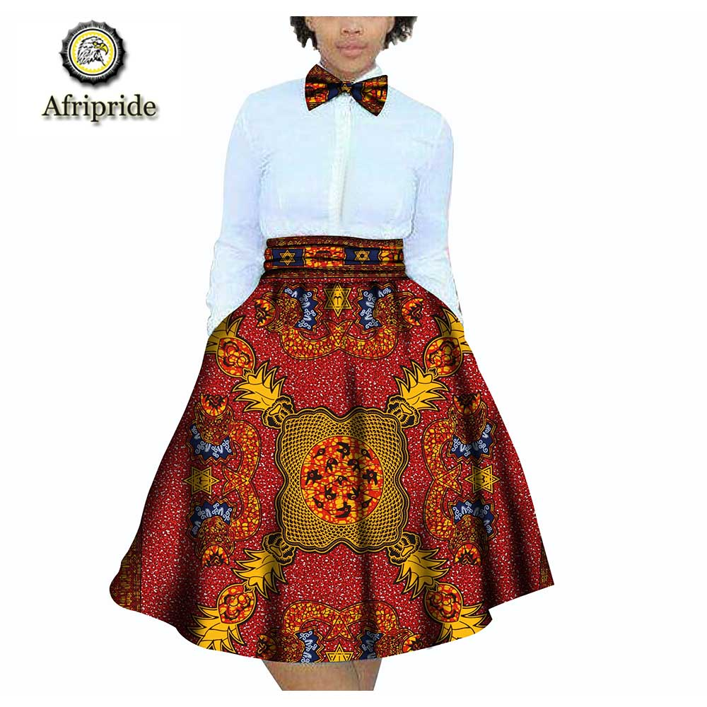 2018~2019 African Women Skirts Children Clothing 100% Cotton Dashiki Bazin Riche Ankara Print AFRIPRIDE S1827002
