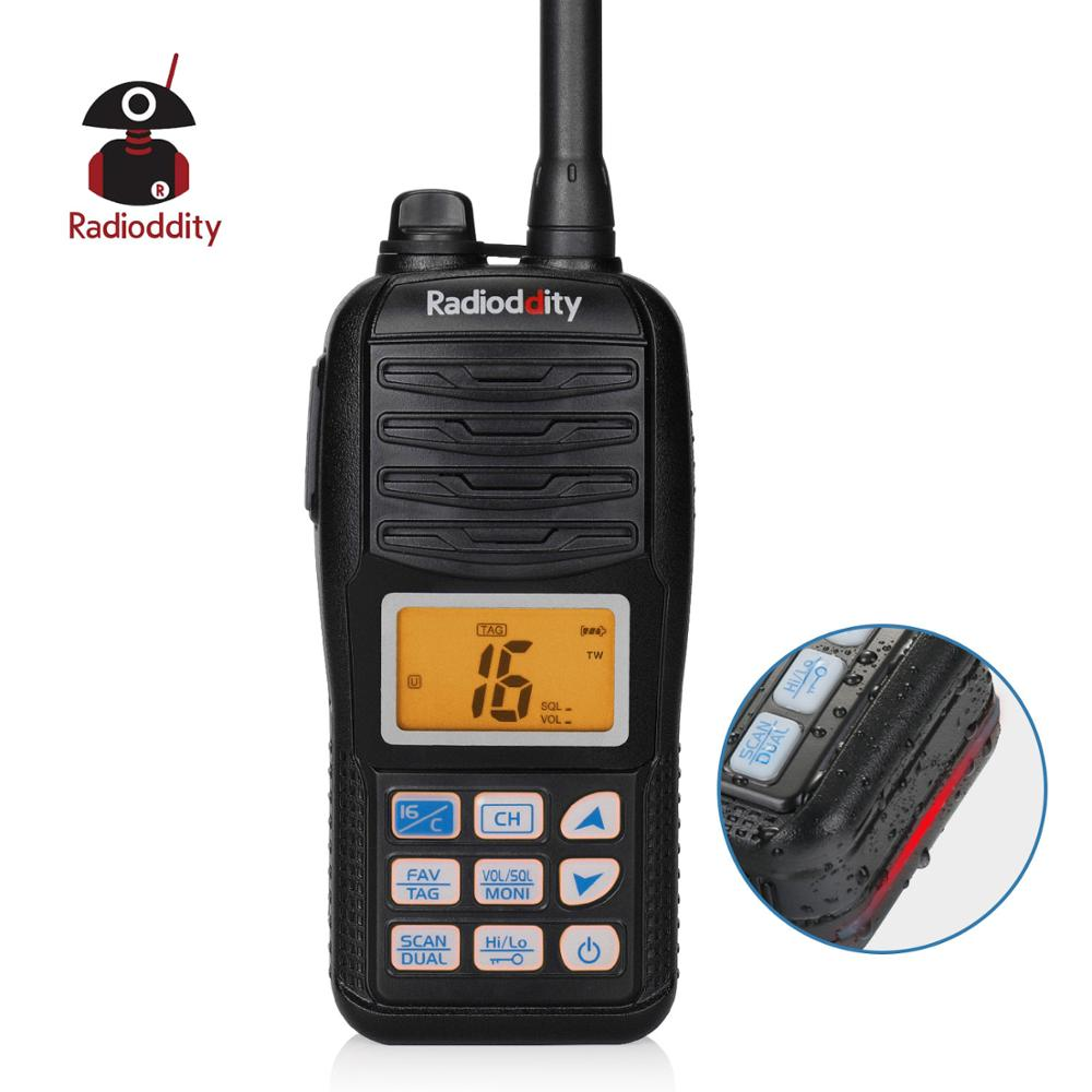 Radioddity Voyage RV6 VHF Tri-watch Marine Radio IP67 Waterproof Floating With NOAA Weather Alert Emergency Strobe LED