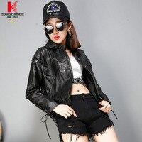 Biker Jacket Leather Women Black With Fur Ladies Styles Quality Brands Cute Bomber Hoodie Tweed Design Hooded Leather Jacket