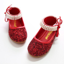 2017 Spring Girls Party Shoes Cute Pears Kids Shoe Baby Sandals Sparkling Children Wedding