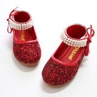2017 אביב נעלי מסיבת בנות חמוד אגסים סנדלי תינוק נעלי ילדים ילדי בנות נוצץ נעלי חתונה נעלי דירות בנות Pincess