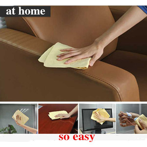 Image 5 - 43*32*0.2CM  Super Absorption  Microfiber Car Care Towel Car Wash Towel Cleaning PEVA Towel Synthetic Suede Chamois  Car Styling