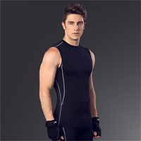 Men Sport Vest Fashion Slim Bodybuiling Top Quickly Dry Absorb Sweat Fitness Running Tank Male Tight