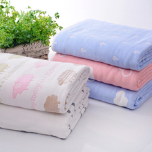115 * 115cm Baby Blanket Newborn Quilt Toddler Toddler Organic Cotton Towel Animal Soft Linen Bedding WMC2721