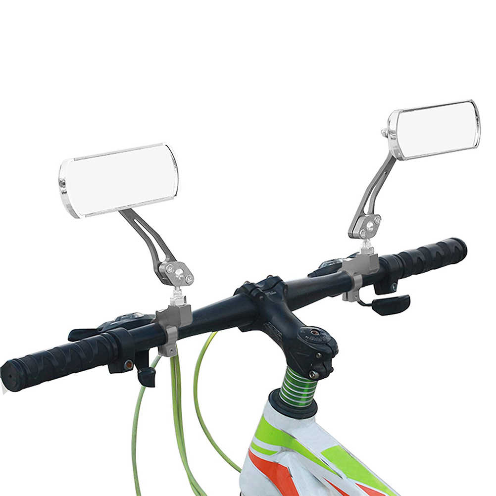 Details about  /1Pair Bicycle Rearview Mirror 360°Rotation Flexible Aluminum alloy Fit MTB Bike