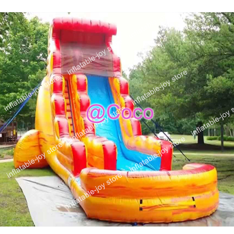 Inflatable Water Slide Port Macquarie: Free Ship To Sea Port!8*4m Full Printing Inflatable Slide