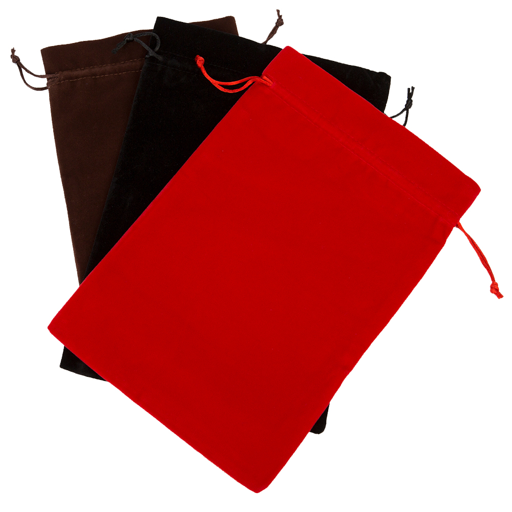 1pcs Big Velvet Drawstring Pouch Bags 20x30cm(8x12) Jewelry Wedding Holiday New Year Christmas Party Makeup Gift Bag Black Red anime pocket monster sailor moon totoro zootopia etc jewelry cell phone drawstring pouch wedding party gift bag draph variety