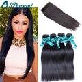 7A Alidoremi produtos de cabelo da malásia cabelo reto 4 pacotes com fecho malaio feixes de cabelo humano em linha reta com fechamento