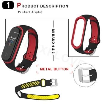 Bracelet for Xiaomi Mi Band 3 4 Sport Strap Watch Silicone Wrist Strap For xiaomi mi band 4 3 Correa Bracelet Miband 4 3 Strap 1