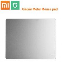 Original xiaomi metal mouse pad de alta qualidade 18*24cm * 3mm, 32*18cm * 3mm, luxo fino alumínio computador mouse almofadas fosco