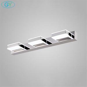 Image 3 - L16/35/50/68cm Mirror light led bathroom wall lamp modern chrome cabinet iluminacion led vanidad passpiegels luz de espejo luces
