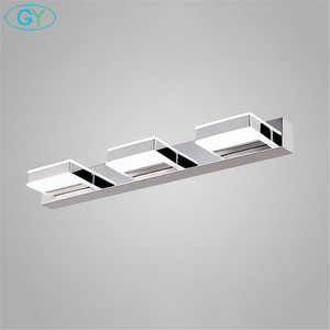 Image 3 - L16/35/50/68cm espelho luz led banheiro lâmpada de parede moderna armário cromo iluminacion led vanidad passpiegels luz luces