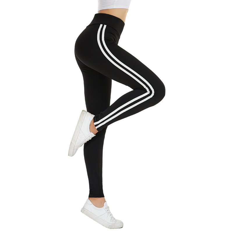 Glam City Joggers Women White Stripe Side Trim  Korean Gym Workout Pant Pantalones Mujer Trousers Women Gothic